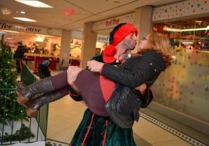 Patricia Kenmure (Prescott) dances with the elves.