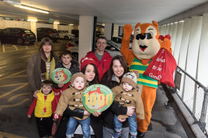 Filbert joins the club's 1,000th members twins Jake, left, and Tyler Webster, their mum Bethan Jones and gran Joanne Noble-Midgley plus the club's first member Carol and Marcus Lund, left, with sons Thomas, 10, and Jake, four