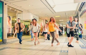 Fashion on the Move saw models taking part in a flash mob-style spectacular at Church Square Shopping Centre.
