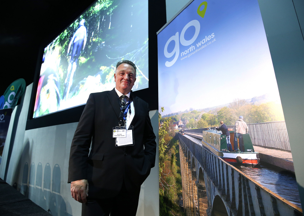 Jim Jones Managing Director North Wales Tourism at the Go North Wales Year of Adventure Conference at the IFB 2016 hosted in Liverpool.