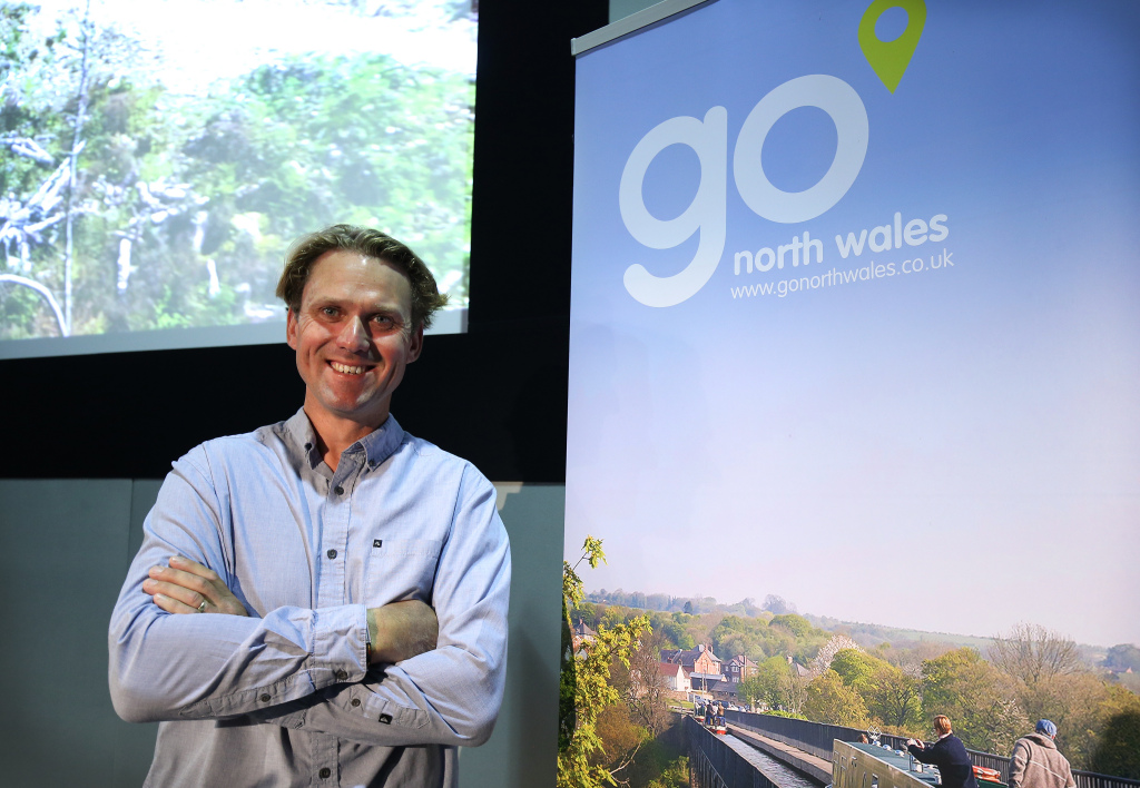 Phil Scott from Rib Ride at the Go North Wales Year of Adventure Conference at the IFB 2016 hosted in Liverpool.