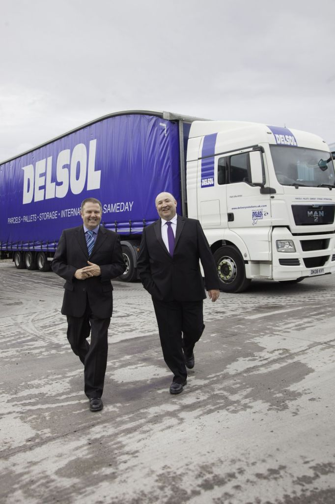 Simon Walker (left) and Tony Parry, joint managing directors of parcels and pallets delivery firm Delsol, which operates across Cheshire and the north west