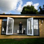 Paul Williams' new home office and micro-cinema