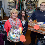 Scope Charity Shop Manager Trisha Murphy with volunteers Jan Rae and Andrew Birkett