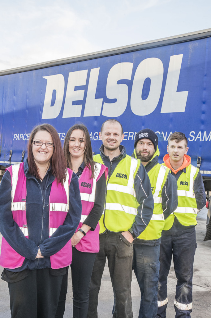 Delsol staff, from left, Claire Maddock, Kathy Jones, Stewart Harrison, Grant Mooney and Sam Williams